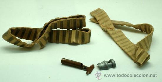 Juguetes antiguos: Tanque Gama 98 a cuerda lanza proyectiles en caja a cuerda funciona años 50 - Foto 9 - 35128070