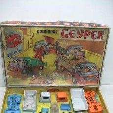 Juguetes antiguos: GEYPER REF: 502 - MONTAJE EN CADENA DE CAMIONES. Lote 35189616