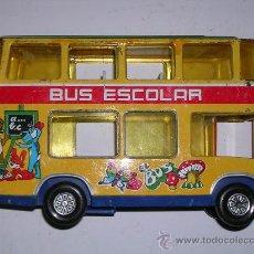 Juguetes antiguos: AUTOBUS DE DOS PISOS - BUS ESCOLAR OBERTOYS. Lote 35718565