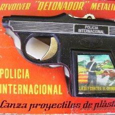 Juguetes antiguos: PISTOLA MARCA REDONDO DE LOS 60, 70 EN SU CAJA ORIGINAL. Lote 36784475