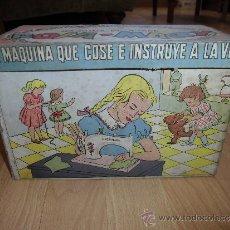 Juguetes antiguos: BONITA CAJA DE LA MAQUINA DE COSER ROSA-MARY . Lote 38078369