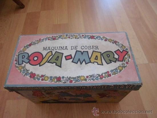 Juguetes antiguos: BONITA CAJA DE LA MAQUINA DE COSER ROSA-MARY - Foto 2 - 38078369