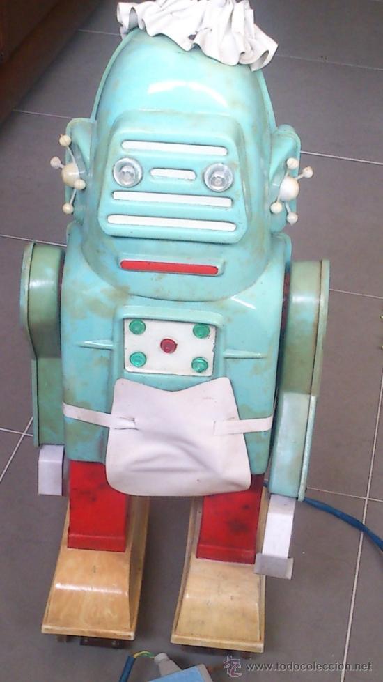 ROBOTINA MARCA JEFE,ROBOT,DE LO MÁS RARO EN ROBOTS,BASTANTE BUEN ESTADO,VER FOTOS (Juguetes - Marcas Clasicas - Otras Marcas)