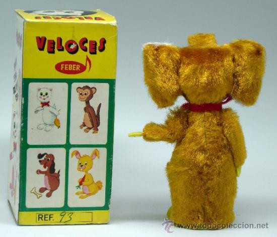 Juguetes antiguos: Elefante peluche Veloces de Feber años 80 a fricción funciona con caja - Foto 6 - 38291232