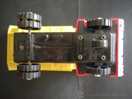 Juguetes antiguos: camion volquete a friccion con resorte el basculante, marca española shamber´s, - Foto 2 - 38805848