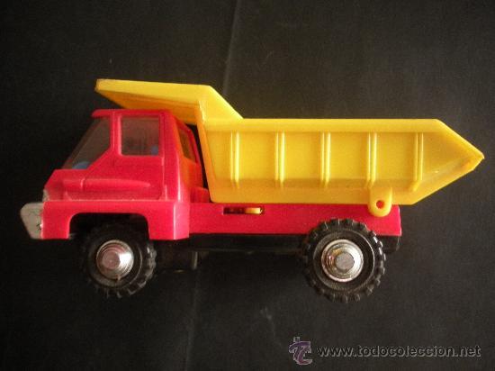 Juguetes antiguos: camion volquete a friccion con resorte el basculante, marca española shamber´s, - Foto 5 - 38805848