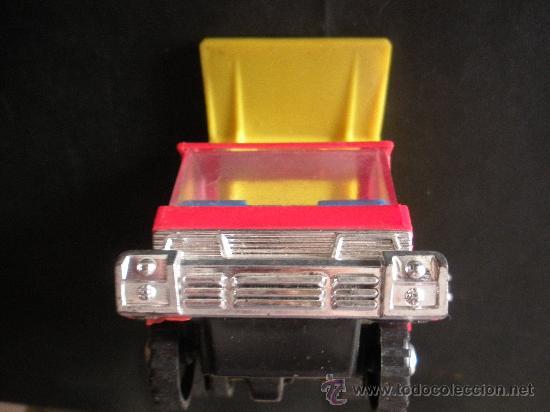 Juguetes antiguos: camion volquete a friccion con resorte el basculante, marca española shamber´s, - Foto 4 - 38805848
