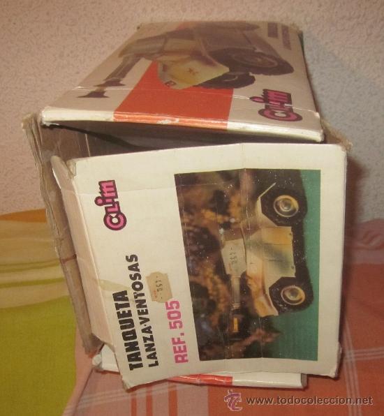 Juguetes antiguos: TANQUETA LANZA-VENTOSAS DE CLIM,CAJA VACÍA - Foto 3 - 39288848