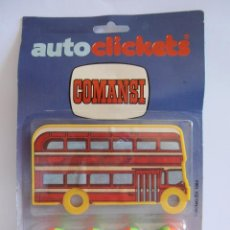 Juguetes antiguos: BLISTER AUTO CLICKETS DE COMANSI MODELO AUTOBUS ROJO. Lote 40031815