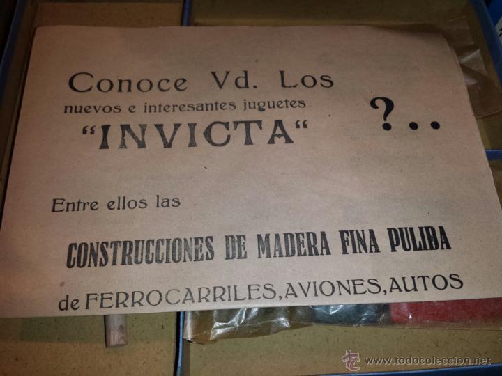 Juguetes antiguos: JUEGO DE CONSTRUCCION INVICTA AÑOS 40- 50 PRECINTADO - Foto 3 - 40509039