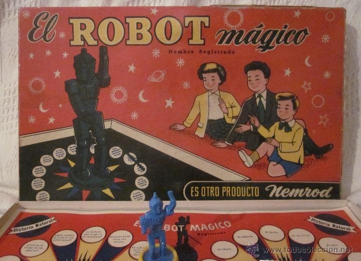 EL ROBOT MÁGICO,NEMROD,CAJA ORIGINAL,AÑOS 50 (Juguetes - Marcas Clasicas - Otras Marcas)