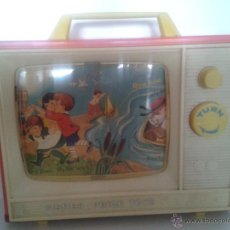 Juguetes antiguos: TELEVISOR FISHER PRICE - TELEVISION - TOYS - AÑOS 60. Lote 108372560
