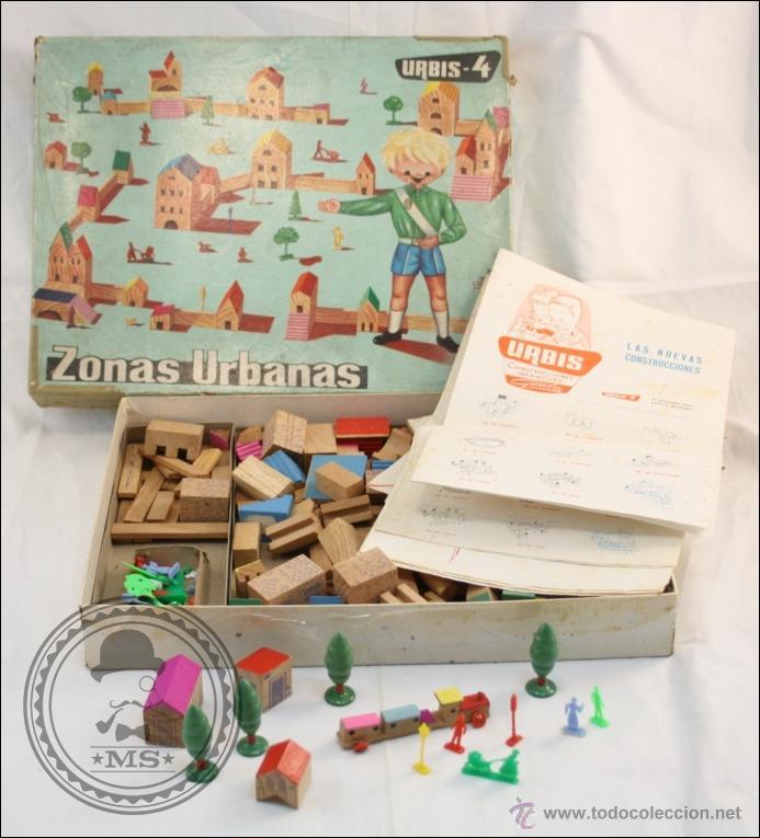 Antiguo juego de construcci n en madera a os comprar - Juguetes antiguos de madera ...