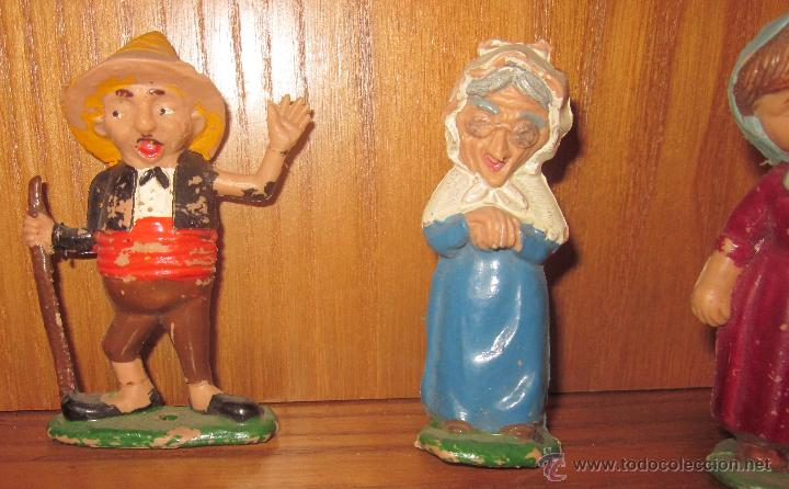 Juguetes antiguos: FIGURAS DEL CUENTO CAPERUCITA ROJA DEL MINI TEATRO AIRGAM - Foto 3 - 43151222