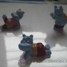 Juguetes antiguos: KINDER SORPRESA - COLECCION DE 3 HIPPOS. Lote 25430163