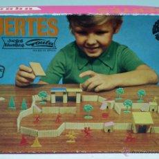 Juguetes antiguos: JUEGO FUERTES CONSTRUCCIONES GOULA JUEGOS EDUCATIVOS AÑOS 70. Lote 43310744