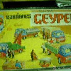 Juguetes antiguos: CAJA CAMIONES DESMONTABLES DE GEYPER. Lote 43660880