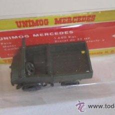 Juguetes antiguos: VEHICULOS MILITARES EKO, Nº 4005, UNIMOG MERCEDES, EN CAJA. CC. Lote 44397763