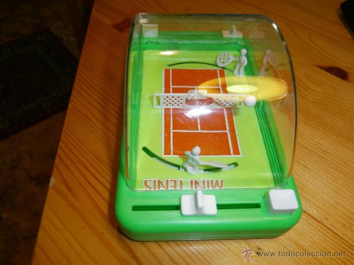 Juguetes antiguos: Juego de *MINI TENIS* de Obertoys .Made in Spain. Años 80. Nuevo - Foto 2 - 44887694