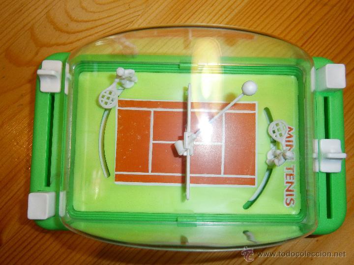 Juguetes antiguos: Juego de *MINI TENIS* de Obertoys .Made in Spain. Años 80. Nuevo - Foto 3 - 44887694