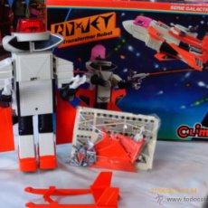 Brinquedos antigos: ROYJET ROBOT TRANSFORMABLE MANUAL SERIE GALACTIC.CLIM 80S.EN CAJA.VER ESTADO.. Lote 124445034