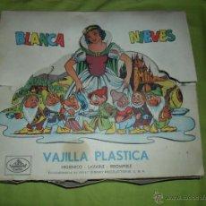 Juguetes antiguos: ANTIGUA VAJILLA DE JUGUETE BLANCANIEVES (INDUSTRIAS PLÁSTICAS TRILLA) PRODUCTO OFICIAL DISNEY. Lote 44960006