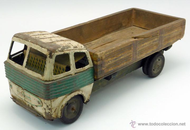 Cami n transporte metal y madera desg ace a os comprar - Juguetes antiguos de madera ...