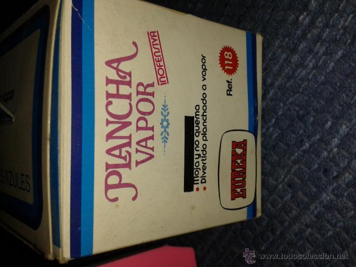 Juguetes antiguos: Plancha Vapor *EUREKA* Años 80 - Foto 3 - 45547248