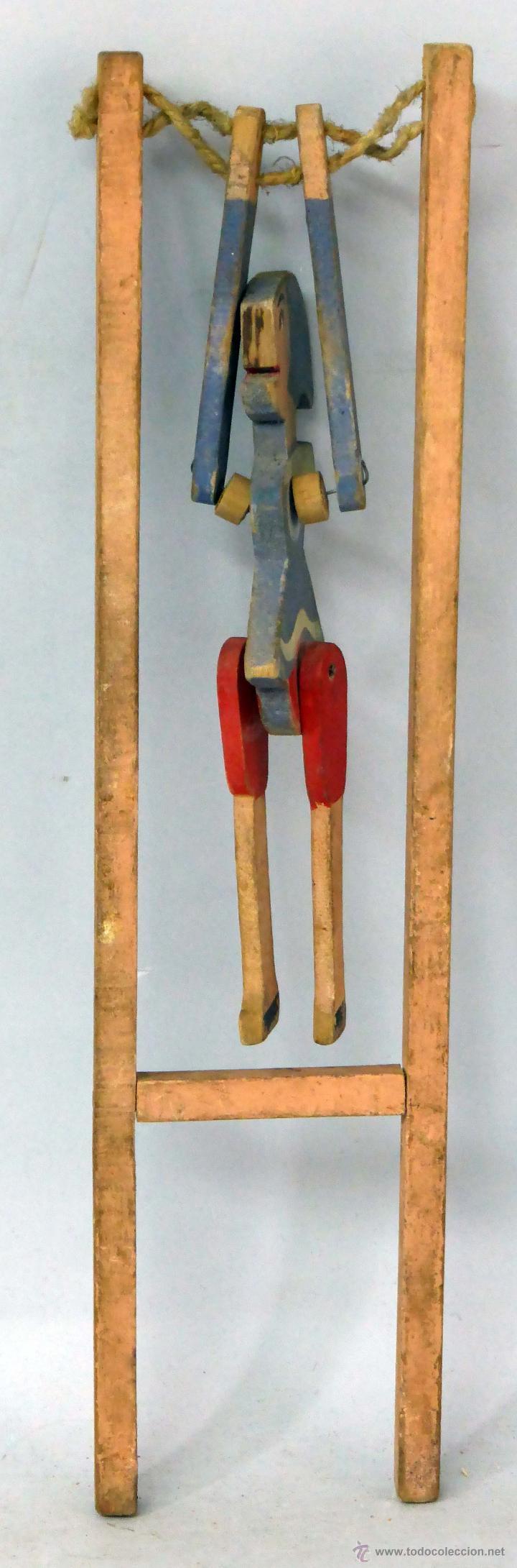 Pinocho trapecista madera denia a os 20 comprar juguetes - Juguetes antiguos de madera ...