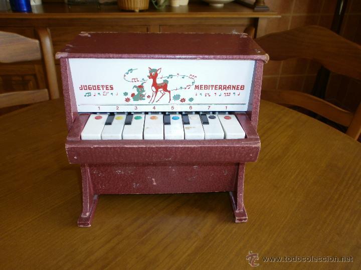 PIANO- JUGUETES MEDITERRANEO - VALENCIA AÑOS 60-70. (Juguetes - Marcas Clasicas - Otras Marcas)