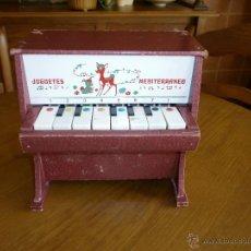 Juguetes antiguos: PIANO- JUGUETES MEDITERRANEO - VALENCIA AÑOS 60-70.. Lote 45987474