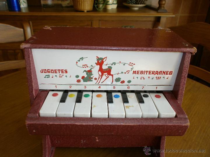 Juguetes antiguos: PIANO- JUGUETES MEDITERRANEO - VALENCIA AÑOS 60-70. - Foto 2 - 45987474