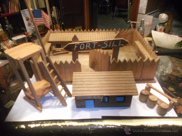 Juguete fuerte oeste fort sill de madera origi comprar - Juguetes antiguos de madera ...