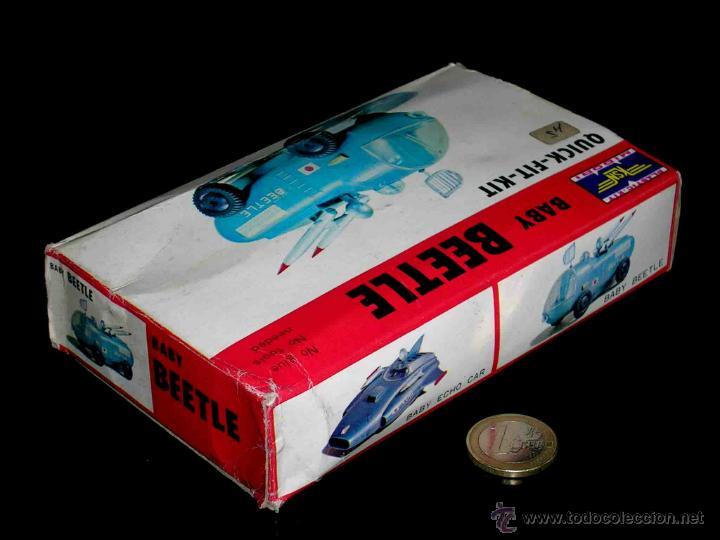 Juguetes antiguos: Baby Beetle vehículo Espacial Espacio, fabricado en plástico por Midori KSN, made in Japan. Años 60 - Foto 4 - 46562533