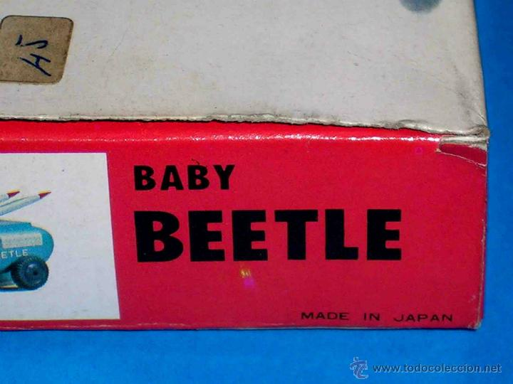 Juguetes antiguos: Baby Beetle vehículo Espacial Espacio, fabricado en plástico por Midori KSN, made in Japan. Años 60 - Foto 6 - 46562533