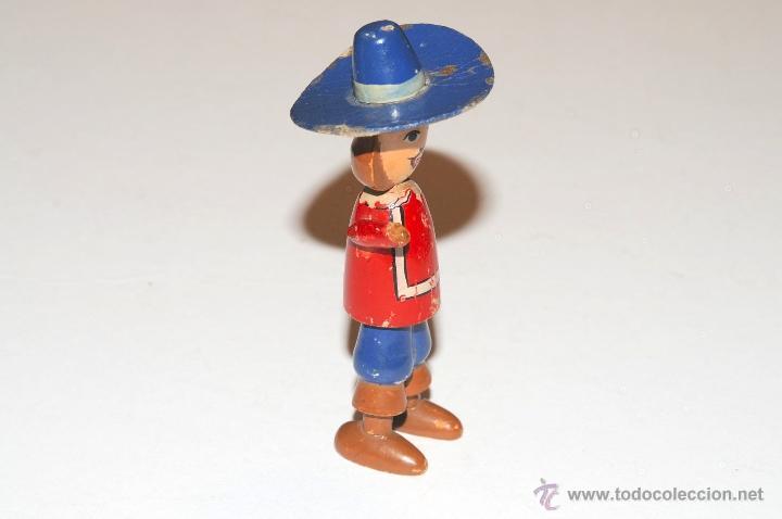 Juguetes antiguos: JUGUETE DE MADERA MOSQUETERO - Foto 3 - 46575887