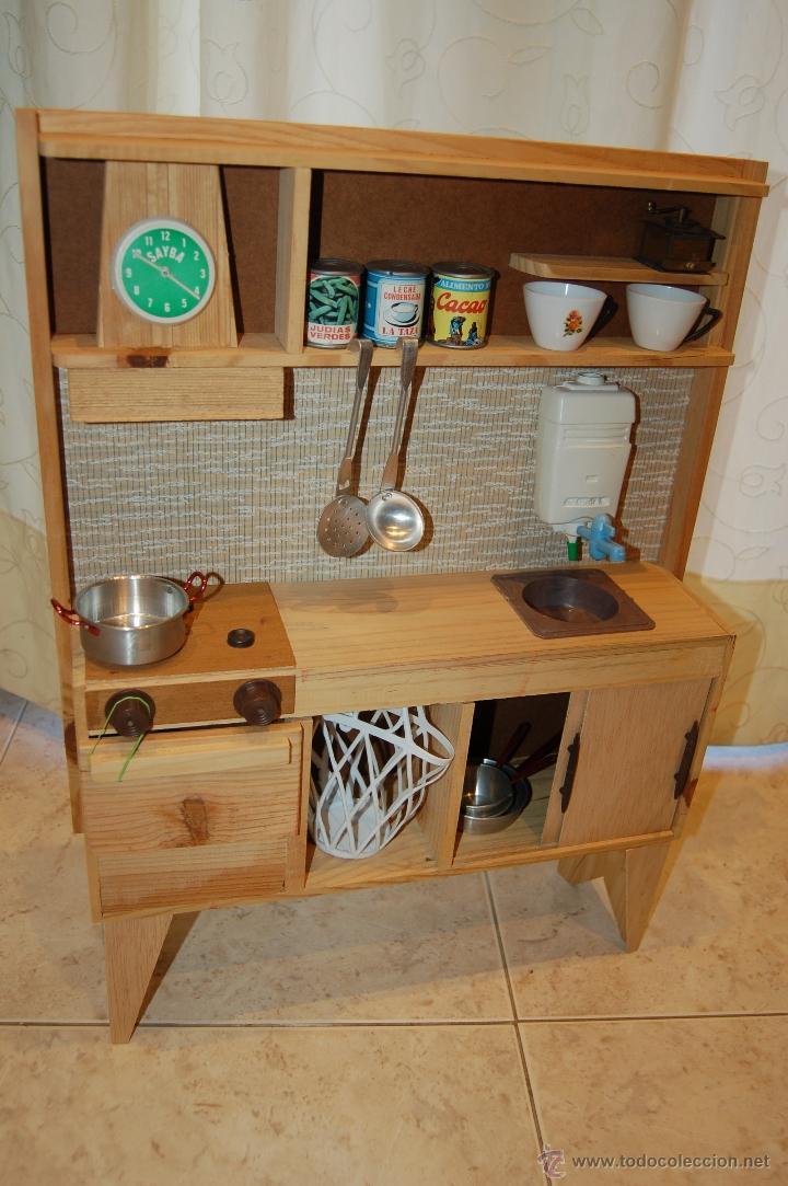 Cocina de madera a os 70 sayba comprar juguetes for Cocina de madera juguete