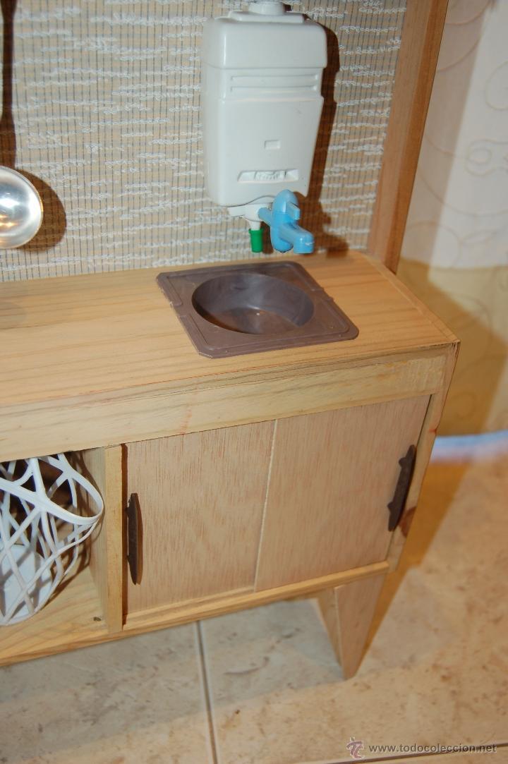 Juguetes antiguos: cocina de madera años 70 sayba . - Foto 7 - 46663451