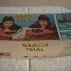 Juguetes antiguos: JUGUETES GRACIA TRIAL, CAJA VACIA , JUGUETE ANTIGUO, TREN ANTIGUO. Lote 81752994