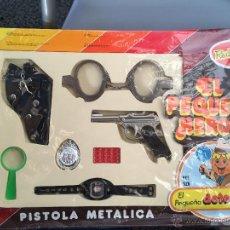 Juguetes antiguos: EL PEQUEÑO HEROE, EL PEQUEÑO DETECTIVE, DE REDONDO. AÑOS 70/80. Lote 47038632