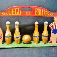 Juguetes antiguos: JUEGO DE BOLERAS O BOLOS. TODO DE MADERA. . Lote 47072887