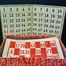 Juguetes antiguos: LOTERÍA ENRIQUE BORRÁS EN SU CAJA ORIGINAL. AÑOS 50.. Lote 47072896