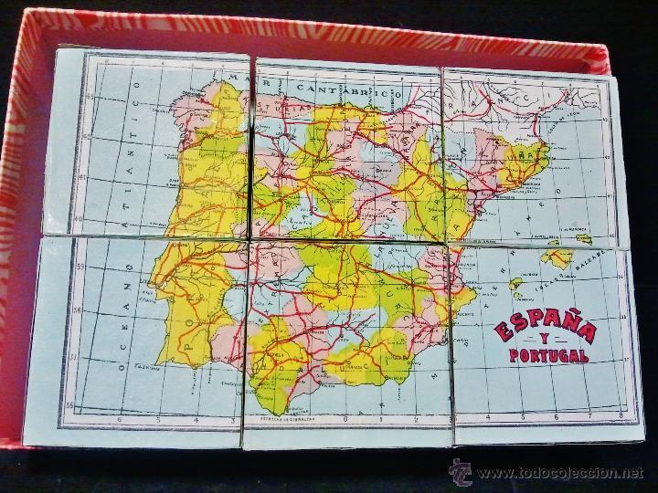 Juguetes antiguos: Rompecabezas geográfico de Borrás con su caja original a estrenar. - Foto 2 - 47072897