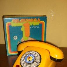 Juguetes antiguos: TELÉFONO ELECTRICO DE RIMA. HERALDO. A ESTRENAR. Lote 47112840