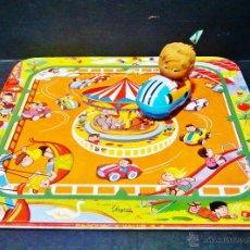 Juguetes antiguos: PISTA CARRUESEL PAYVA CON COCHE. AÑOS 60. FUNCIONA CORRECTAMENTE. . Lote 47441655