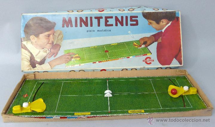 Mini Tenis Congost Pista Metalica Anos 70 Juego De Mesa