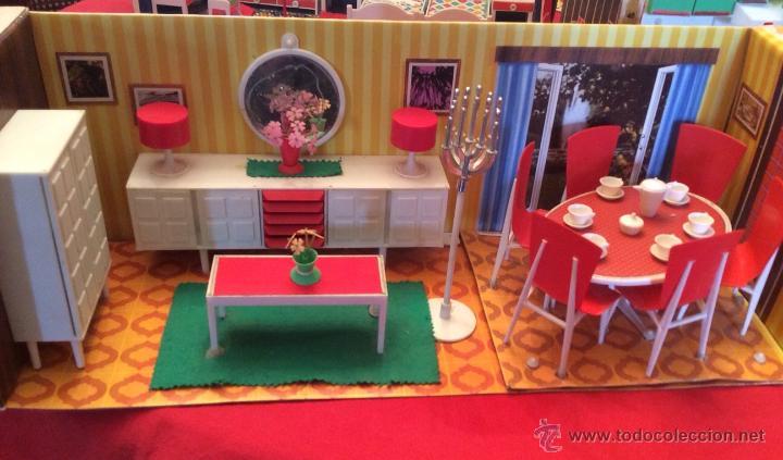 Juguetes antiguos: Lote de 4 Hogarin modisa año 1971,cocina ,salón, baño y dormitorio - Foto 2 - 47954876