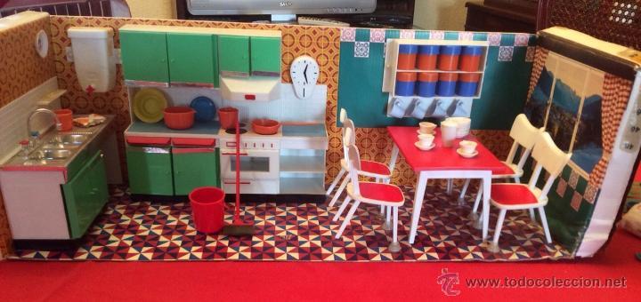Juguetes antiguos: Lote de 4 Hogarin modisa año 1971,cocina ,salón, baño y dormitorio - Foto 3 - 47954876
