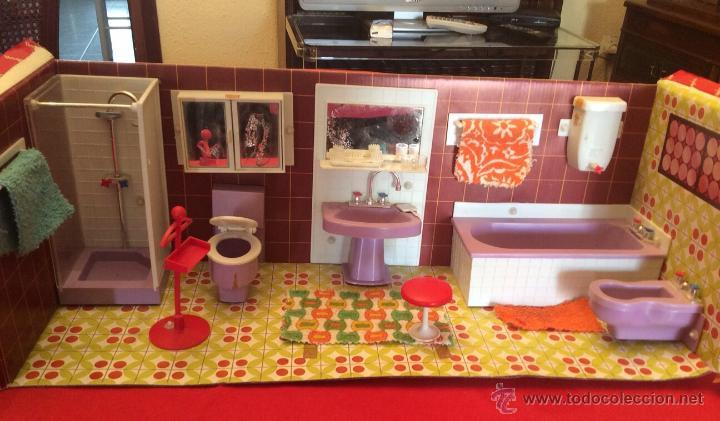 Juguetes antiguos: Lote de 4 Hogarin modisa año 1971,cocina ,salón, baño y dormitorio - Foto 4 - 47954876