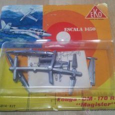 Juguetes antiguos: ANTIGUO BLISTER EKO AVION FOUGA CM 170 MAGISTER ESCALA 1/150 AÑOS 80 (INCOMPLETO) - MADE IN SPAIN. Lote 47988555